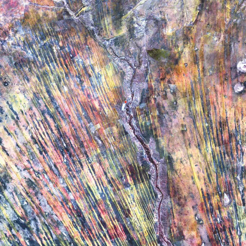NASA, Earth As Art, Landsat 7, Kalahari Desert, Southern Africa,