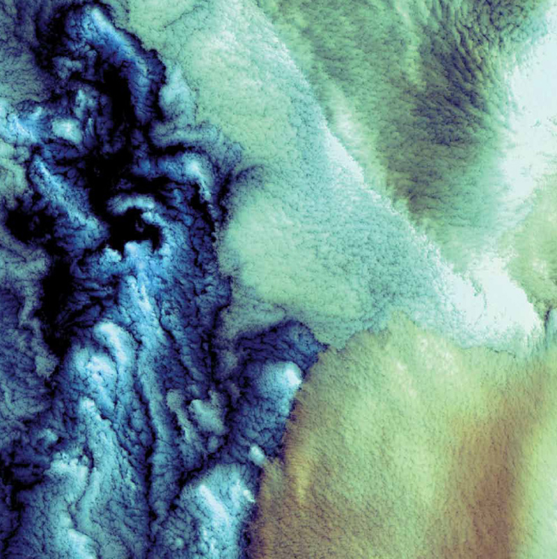 NASA, Earth As Art, Landsat 7, Aleutian Clouds, Bering Sea