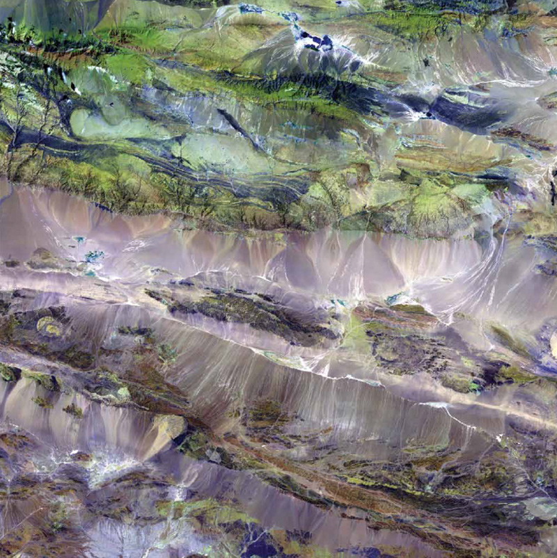 NASA, Earth As Art, Landsat 7, Edrengiyn Nuruu, Mongolia,