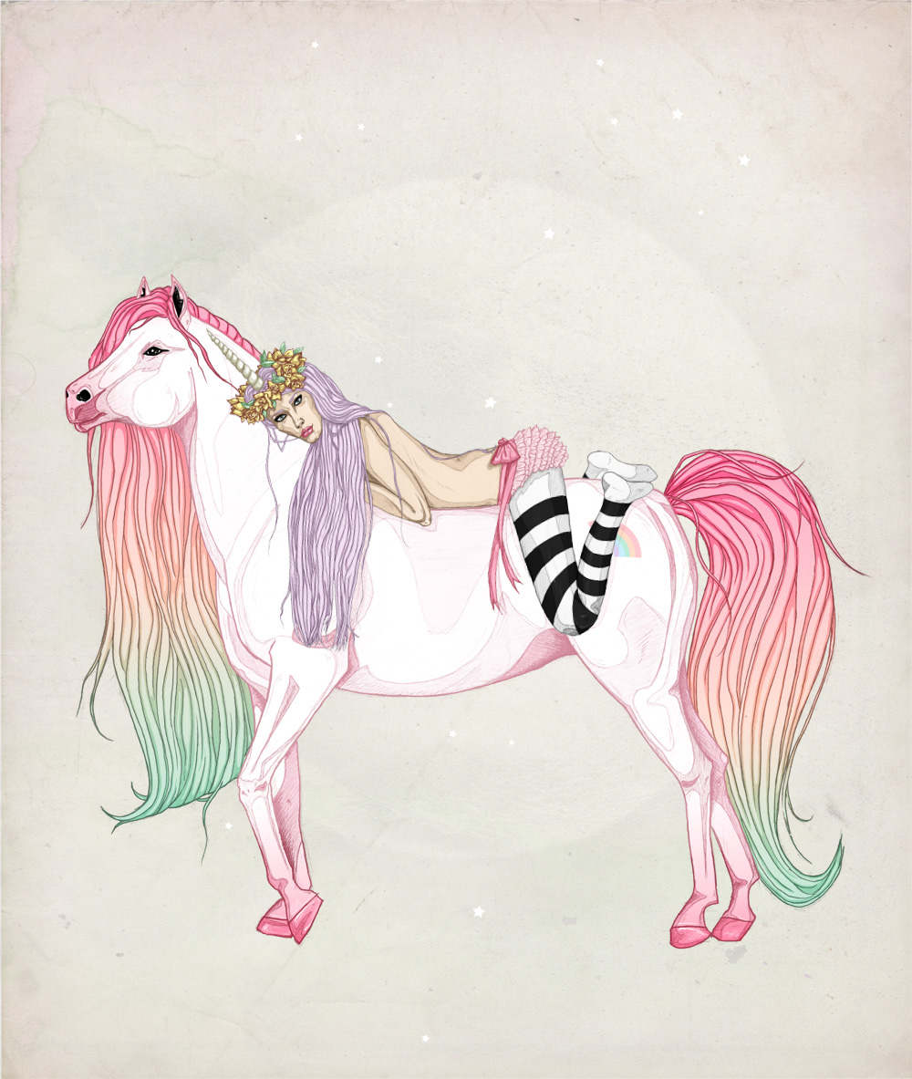 FAIIINT, Illustration, Illustrator, Philip, Horse, Pony, My Little Pony, MLP, Rainbow Hair, Fantasy, Pretty, Fairytale