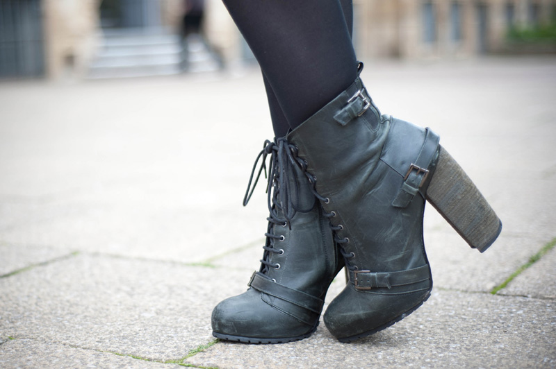 Topshop, Boutique, Shoes, Boots, Lace up, Distressed, Detail