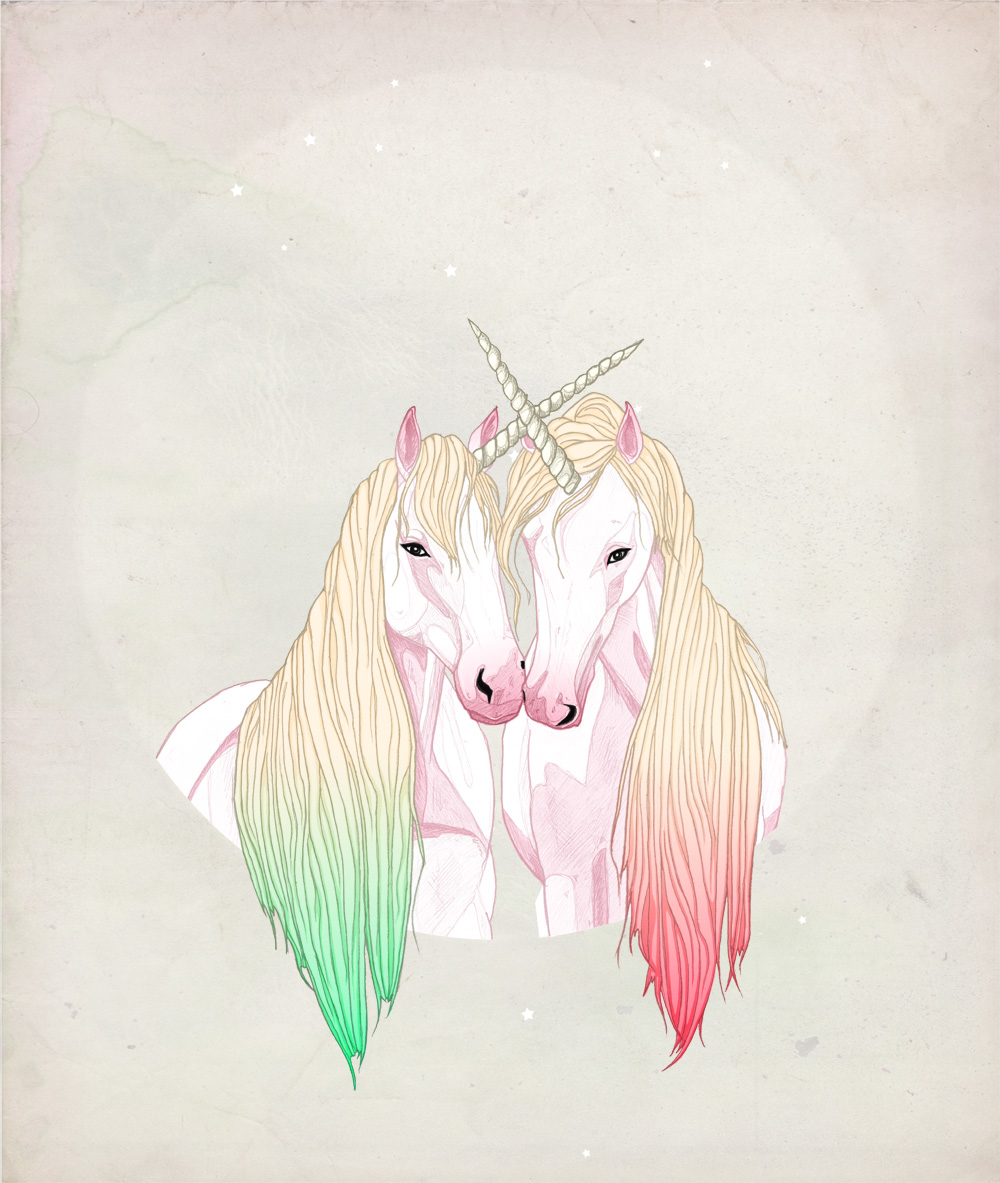 FAIIINT, Illustration, Illustrator, Unicorn, Unicorns, Horse, Pony, My Little Pony, MLP, Rainbow Hair, Fantasy, Pretty, Fairytale