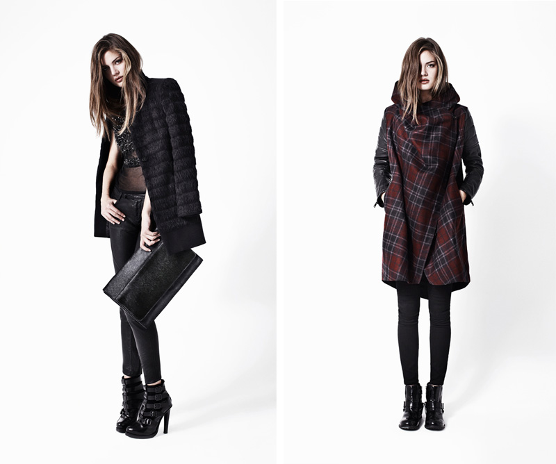 Allsaints, Autumn, Winter, 2012, Lookbook, Fur Shield Coat, Conical Tee, Biker Trouser, Widow Buckle Boot, Kubrick Clutch, Check Gaboury Parka, Roseport Ashby, Jules Biker Boot