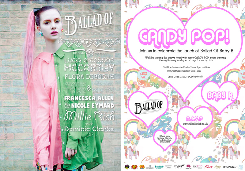 Ballad Of Magazine Candy Pop Baby K Launch Party