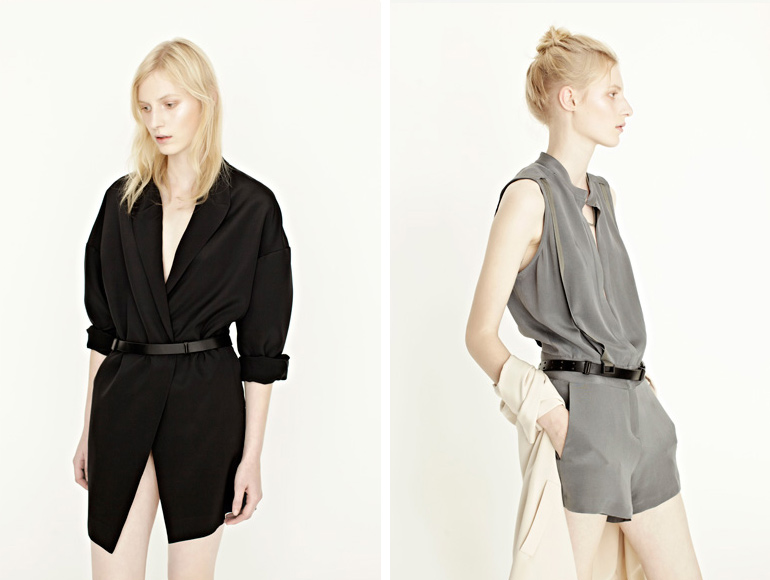 Dion Lee, Line II, Spring Summer, 2012, Lookbook, Fashion, Designer, Australian, Draped, Tailoring, Shirt, Dress, Slouchy, Diffusion Line