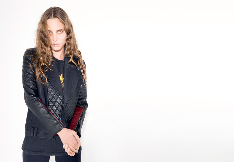 Francis Leon, SS13, Spring Summer, 2013, Leather, Biker, Jacket, Black, Oxblood, Panelling, Quilted, Jersey, Texture, Sporty, Rock, Collection, Lookbook