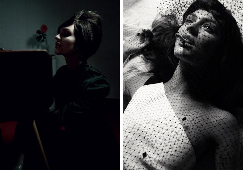 Gregory Harris, Candice Swanepoel, 10 Magazine, Winter 2012, Spring 2013, Editorial, Fashion, Retro, 50s, 60s, Vintage, Modern, Dark, Gothic, Romance, Veil, Smoking, Cigar, Cigarette, Model