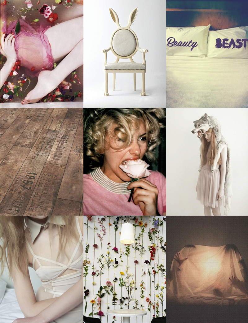 FAIIINT, Inspiration, Mood Board, Cream, Pink, Pastel, Rose, Chocolate, Taupe, Grey, Brown, Floral, Flowers, Nude