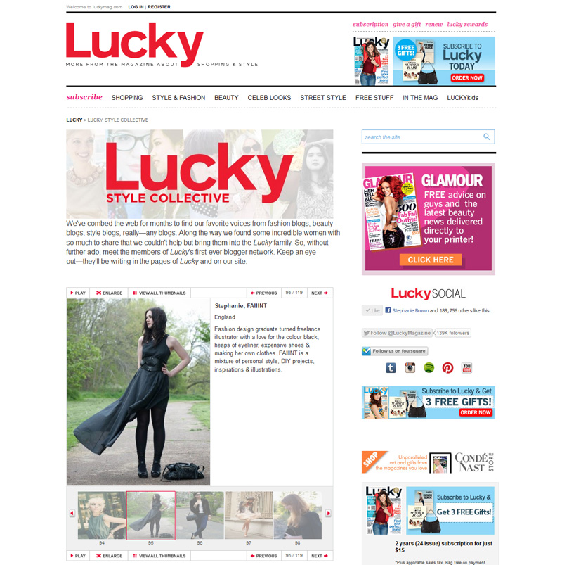 FAIIINT, Lucky Magazine, Lucky, Mag, Lucky Style Collective, LSC, Featured, Blogger, Fashion