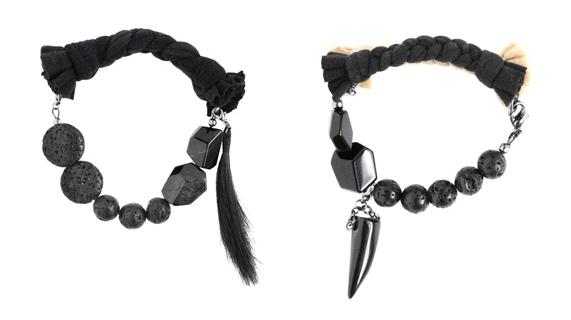 Maria Lau, Autumn / Winter 2011, Braclets, Rocks, Hair, Jewellery, Plait, Braided, Stones, Claw