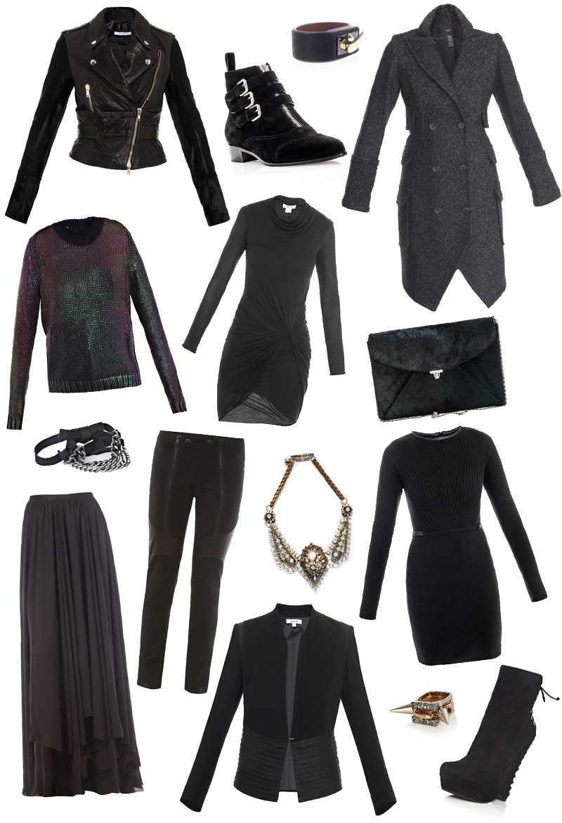FAIIINT, Wishlist, Matches, Matches Fashion, Winter, Autumn, Roundup, 2012, Helmut Lang, Dress, Draped, Diane Von Furstenberg, Givenchy, Leather, Jacket, Biker, Calf Hair, Ponyskin, Cuff, Tabitha Simmons, Ankle Boot, Flat, Suede, Yves Saint Laurent, YSL, Madge, Boots, Wedge, Lanvin, Maxi, Skirt, Sportmax, Sweater, Metallic, MM6, Bracelet, Smythe, Herringbone, Coat, Military, Leggings, L Wren Scott, Joomi Lim, Rings, Gold, Shourouk, Necklace, Bib, Perspex, Swarovski, Black, Grey,