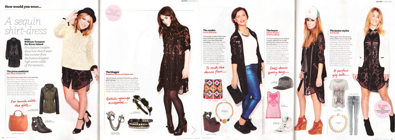More Magazine, How Would You Wear, Feature, FAIIINT, Stephanie Brown, Blogger, Magazine, Press, Clippings,