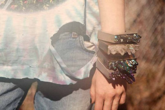 Pamela Love, Fall 2011, Lookbook, Crystals, Jewellery, Spikes, Tribal, Grunge