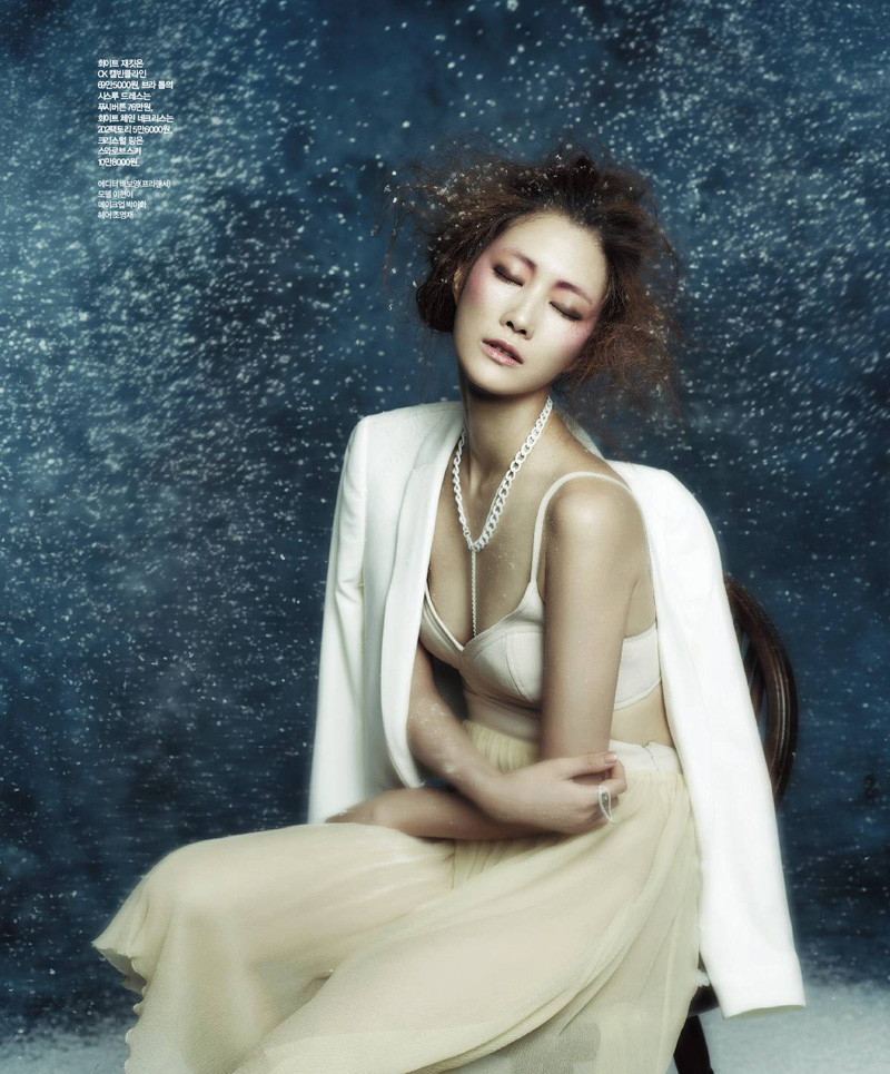 Snow White, Kim Yeong Jun, Kim Young Jun, Lee Hyun Yi, Singles Korea, Magazine, Jung Min Kang, Snowing, Editorial, Fashion, Story, Tailoring, White, Navy, Blue, Cream, Korean, Soft, Underwear, Lingerie, Outerwear, Dreamy, Romantic, Fairytale, Grey,