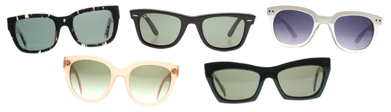 Sunglasses, Sunglasses Shop, Ray Ban, SXUC, Ksubi, Celine, Black, Nude, White, Wayfarer, Cat Eye, Catseye, Statement