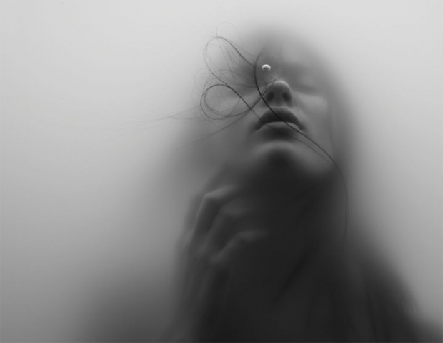 Underwater, Drown, Bubble, Girl, Float, Swim, Black & White, Dream