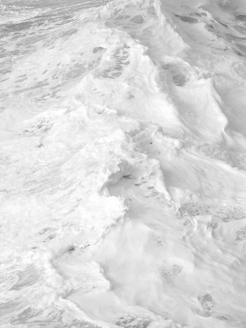 White, Waves, Sea, Foam, Texture, Crashing