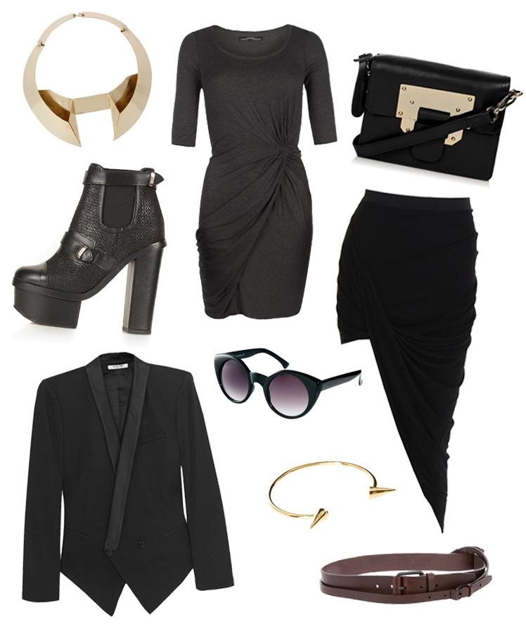 FAIIINT, Wishlist, Black, Draped, Gothic, Grunge, Topshop, ASOS, Helmut Lang, AllSaints, Aqua, A F Vandevorst, In Love With Fashion, Gold